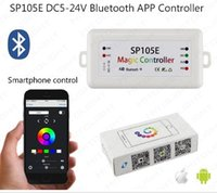 Bluetooth 4.0 SP105E Magic Controller DC5-24V 2048 Píxeles para WS2811 2812 2801 6803 IC LED Strip Compatible con IOS / Android APP