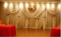الفاخرة الأبيض الزفاف خلفية تصميم جديد خلفية الزفاف \ الستار المرحلة 3 * 6M