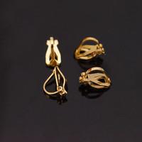 Boucle d'oreille bricolage trouver en gros usine directe précieux 100pcs / lot couleur or boucle d'oreille en laiton composant clip-on boucles d'oreilles drop shipping