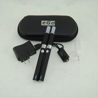 eGo Evod mt3 Elektronische Zigaretten E Cig Doppel Starter Kit MT3 Verdampfer Zerstäuber Clearomizer Ecigs Evod Batterie Doppel-Reißverschluss-Koffer-Kits