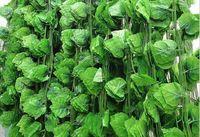 24pcs 6.8feet verdrahtete Efeu-Girlanden-Silk künstliches Rebe-Grün für Wedding Innenministerium