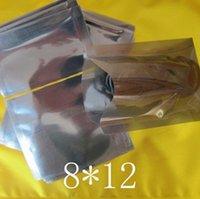 Ücretsiz nakliye 8 * Bag Packaging 12cm 200pcs Anti Statik ısı mühür Koruma Poly Açık Üst Paketi Kılıfı ESD Anti-Statik Antistatik Plastik