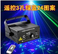 Novo Blue-Green Controle Remoto Sony 3-Buraco Padrão 24 Bar KTV Laser Light-ativado Voz-Laser Lights Flash