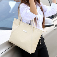 Wholesale-Shoulder Bags For Girls 2015 New Vintage Celebrity Tote PU Leather Handbag Shopping Bags Female Simple Tote Sac Femme De Marque