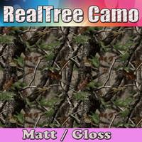 2016 Realtree Camo Vinyl wrap camuflaje hoja de árbol real Mossy Oak Car wrap Film para el estilo de la piel del vehículo que cubre la lámina 1.52x30m / rollo