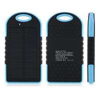 Commercio all'ingrosso 5000mAh 2 Porta USB Power Solar Power Bank Caricabatterie Batteria di backup esterna con scatola al minuto per iPhone iPad Samsung Telefono cellulare