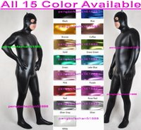 Унисекс костюмы костюмов наряд 15 цвет блестящие лайкра металлический костюм костюм костюм сексуальные женщины мужчины боди хэллоуин вечеринка необработанные платья косплей костюм P095