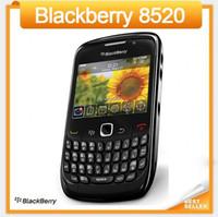 Оригинал 8520 Blackberry 8520 разблокирована сотовый телефон WIFI Свободная перевозка груза столба Сингапур Восстановленное