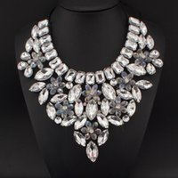 Delicate Flower Crystal Beads Collar Necklaces For Women Par...