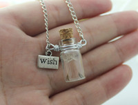 1pc Big Glass Globe Dandelion Real Seed Necklace, Wish Neckla...