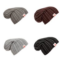 Plain Weave Skull Caps Embossing Wool Knitting Men And Women...