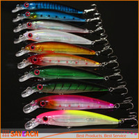Laser Minnow Fishing Lure 11CM 13G pesca hooks fish wobbler ...