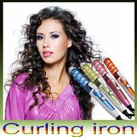 Sihirli Pro Saç bigudi Elektrik Seramik Saç bigudi Spiral Saç Silindirler Curling Demir Wand Salon Saç Şekillendirme Araçları Şekillendirici ABD / AB / AU / UK Tak