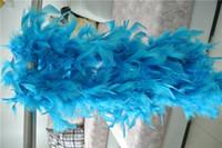 Бесплатная доставка 20pcs / 200см/шт бирюзовый боа из перьев 40gram боевой разворот боа из перьев марабу Боа для костюмы декор для вечеринок
