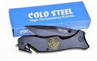 Cold Steel 712C lâmina Folding Facas presente Faca Pocket Knife Faca de caça com Clipe Preto D2 frete grátis 1 pcs