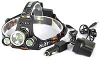 2015 5000LM JR-3000 3X CREE XML T6 LED Phare Phare 4 Mode Lampe de tête + AC Chargeur pour vélo vélo lumière extérieure Sport + Voiture AC Chargeur