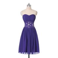 Новые дешевые платья Homecoming Sweetheart из бисера плиссированные шифоновые моды простой дизайн короткие выпускные платья на молнии на заказ H68