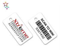مخصص 2021 الطباعة البلاستيك مفتاح بطاقة العلامة pvc المواد مع الباركود keytag fobs بناء على التصميم الخاص بك