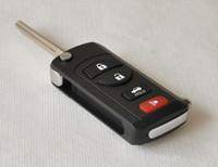 4 أزرار السيارات المعدلة فليب للطي مفتاح البعيد شل حالة مفاتيح فارغة غطاء لنيسان سيلفي تيدا