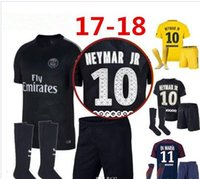 17 18 Third black psg KITs neymar jr Soccer Sets home away P...