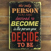 Famous Wisdom DECIDE Tin sign Vintage Metal Poster Picture I...
