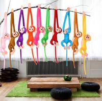 Nette 10 Farben 60cm langer Arm-Affe vom Arm zum Endstück-Plüsch spielt bunte Affe-Vorhang-Affe-Plüschtier-Puppe