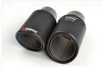 الكلاسيكية 90 قطري Inlet57mm-Outlet90mmfor ak AKRAPOVIC ألياف الكربون العادم طرف العادم كاتم الصوت
