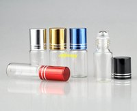 200pcs / ot Livraison rapide 5ML verre clair Huile Essentielle Bouteilles à rouleaux en acier inoxydable Rouleau Balles Parfums Roulez Bouteilles
