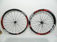 레드 화이트 데칼 700C 탄소 섬유 자전거 바퀴 FFWD 전면 38mm 및 후면 50mm 클린 처 휠셋
