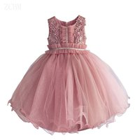 2017 childrens beading evening princess dresses kids party c...