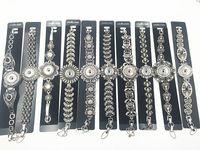 Requintado Gengibre Snap Jóias 10 pcs Lotes Mix Estilo Vintage Snap Charm Bracelet Fit 18 MM Intercambiáveis Botão Snap