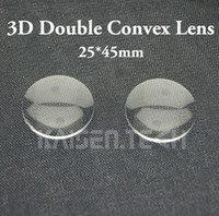 구글 판지 렌즈 3D VR 안경 렌즈 DIY 도매 100PCS / 많은 새로운 높은 품질 아크릴 25mm 직경 45mm 초점을 두 번 볼록 렌즈