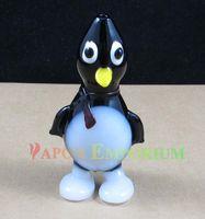 Pingouin populaire style verre soufflé à la main fumée fumer pipe à la main tuyau de tuyaux cuillère Hauteur: 4.7 pouce