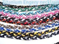 Mix colore Collana Sport Energy Titanium Germanio 3 Corde Braid Tornado baseball softball atleti necklaceNE91