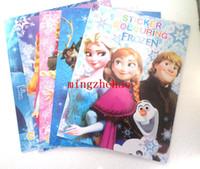 Coloring Book Paper New 10 Pcs Frozen Princess Kids Children Drawing Sketch Painting Graffiti Size 2720CM