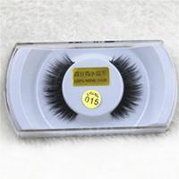 15 Styles # 001- # 015 100% vrai vison cils naturel long épais faux cils faux cils extensions cils faits à la main