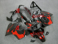 2014 Hot Red Black Fairings ABS Plastic Bodywork Set kit VFR...