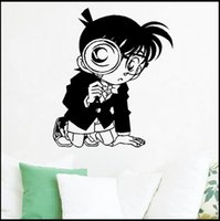 Anime Cartoon The Detective Cocan Con lupa Glass Cool Propile PVC Ahueca Hacia Fuera Ambiental Etiqueta de La Pared Decal Home Decor