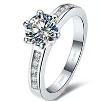 무료 배송 벌금 도매 - 미국 GIA 인증서 1kct, 정통 소나 다이아몬드 반지 18K 금도금 높은 시뮬레이션 드릴 세트 다이아몬드 화이트