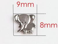 20PCS argento animale elefante galleggiante medaglione fascino adatto per il vetro Living Magnetic Locket regalo per gli amici