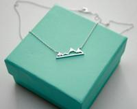 10PCS- N015 Симпатичные Снежное Mountain Top Range ожерелья Простой современный минималистский ожерелье Природа Париж Пейзаж ожерелье для женщин