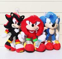 30cm juguetes de peluche de Sonic Hedgehog El envío de juguete de felpa muñecas rojo azul negro Animales juguetes de peluche gratuito