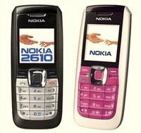 تم تجديده الأصل نوكيا 2610 مقفلة الهاتف الخليوي الإنجليزية الروسية بالعربية 2G GSM 900 / 1800MHZ النطاق المزدوج متعدد اللغات