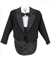 Elegante niño niño traje de boda / esmoquín de niños / chicos chaquetas / gentlemen Boys Trajes para bodas (chaqueta + pantalones + corbata + camisa + camisa)