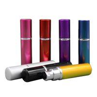 Parfüm-Flasche 5ml Aluminium eloxiert Kompakt Parfüm Aftershave Duft-Glas-Duft-Flasche Mischfarbe Neue Ankunft 0616001