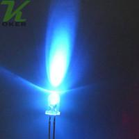 1000pcs 5mm purpurrote runde Wasser-klare LED-Licht-Lampe führte Dioden 5mm purpurrotes UV führte Lampen freies Verschiffen