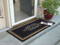 WELCOME MAT Heavy Duty Large Coir Doormat. Front Porch Doubl...
