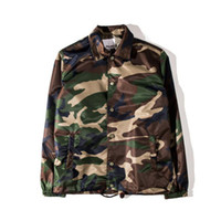 Autumn tide hip hop casual jackets for men solid thin camouf...