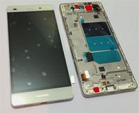 белый и черный и золотой Полный ЖК-дисплей + сенсорный экран Digitizer + рамка Крышка тяга для Huawei р8 облегченных бесплатной доставки