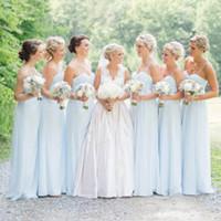 رخيصة عالية الجودة bridemaids فساتين ألف خط الحبيب الرقبة السباغيتي الأشرطة العروسة فستان طويل الشاطئ حديقة الزفاف حزب أثواب رسمية